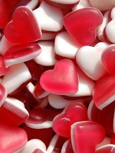 Des bonbons en forme de cœur - Food : 50 idées pour impressionner votre moitié à la Saint-Valentin