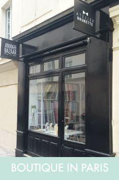 Boutique tendance de tissus au mètre à Paris, tissus à motifs, livres de couture, patrons, twine, DIY - www.annakabazaar.com