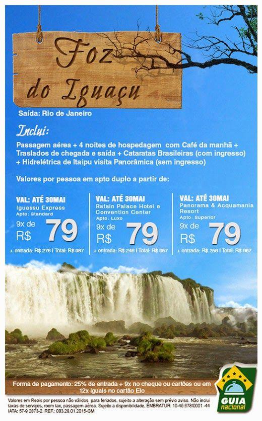 Foz do Iguaçu com cataratas Brasileiras http://www.riotripturismo.com.br/index.php/pacotes/377-foz-do-iguacu-com-cataratas-brasileira