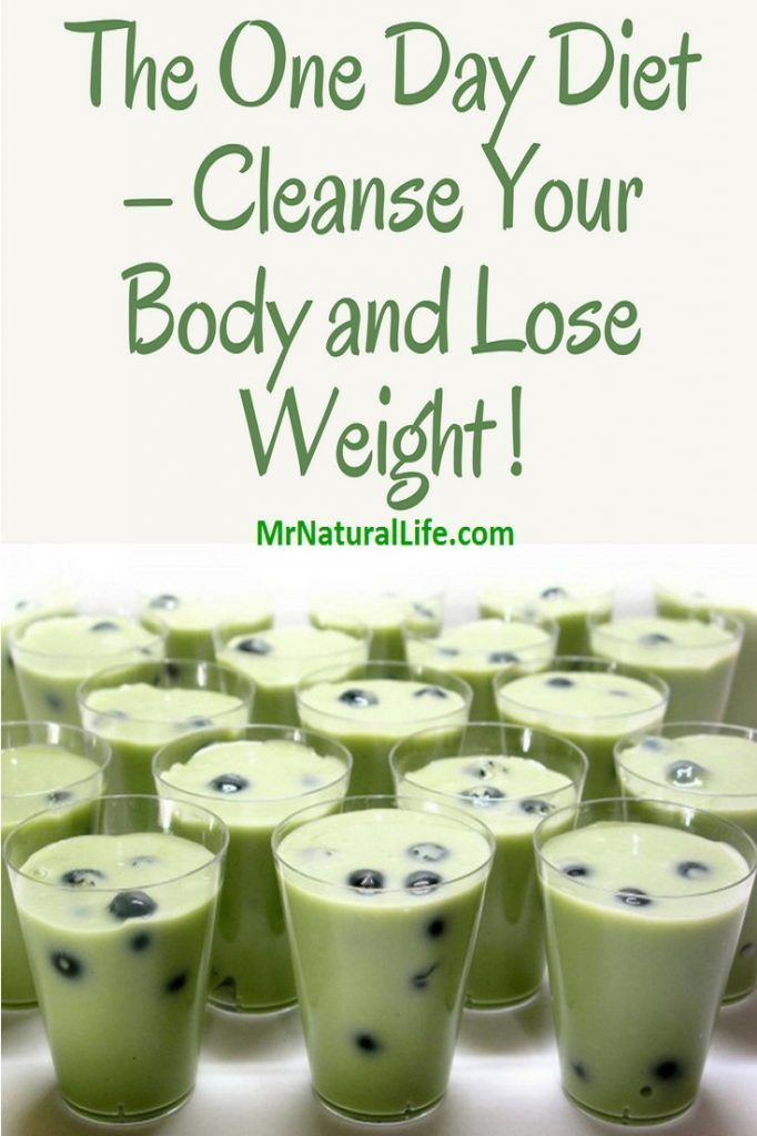 The One Day Diet Cleanse Your Body And Lose Weight Effective