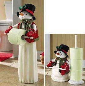 Eu Amo Artesanato: Porta papel higiênico de boneco de neve com molde