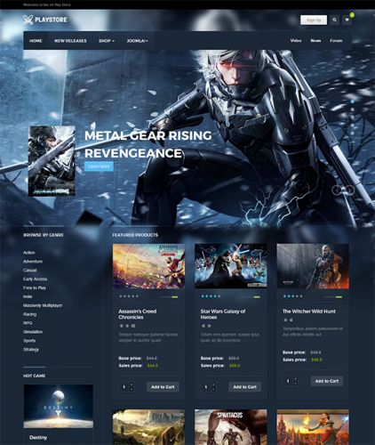Current version: 1.0.3 Documentation: https://www.joomlart.com/documentation/joomla-templates/ja-playstore This versatile Joomla 3 template for Game Shop is a 2016 solution for your online s...