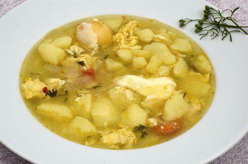 Caldo de Papas y Huevos - Potato soup with Eggs