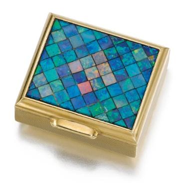 Gold and opal pill box, Cartier, 1953