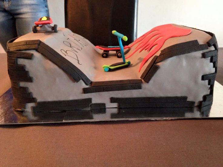 Skateboard taart , Brian 7 jaar