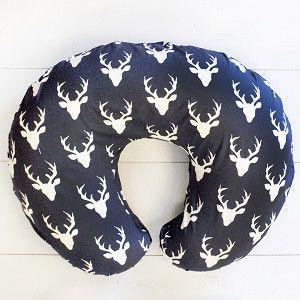 Boppy Pillow Cover | Deer Buck Forest in Twilight Crib Baby Bedding Set