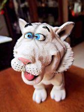 """Bobble head дурачок крест глазами Бенгальский тигр смола литой фигурка 5.5""""…"""