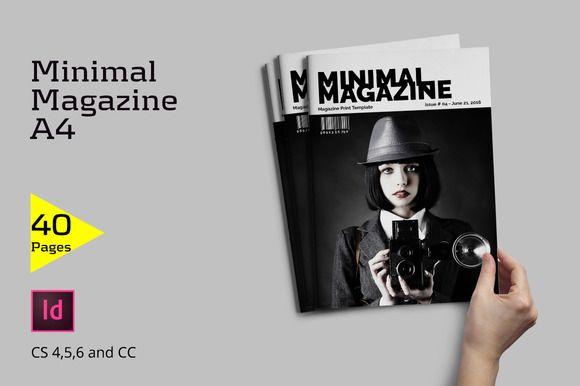 Minimal Magazine by Firtana on @creativemarket