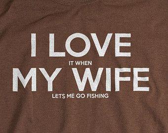 Mountain bike shirt I LOVE it when MY Wife® lets me von UnicornTees