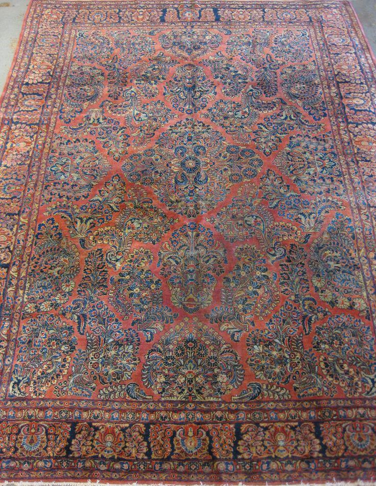Fine Old Persian Sarouk Circa 1920 Size 3 60m X 2 70m