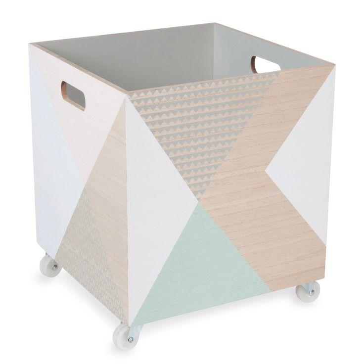 Caja de madera con ruedas ANJELINA | Maisons du Monde