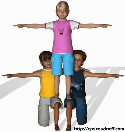 figuras acrosport 3D - Buscar con Google