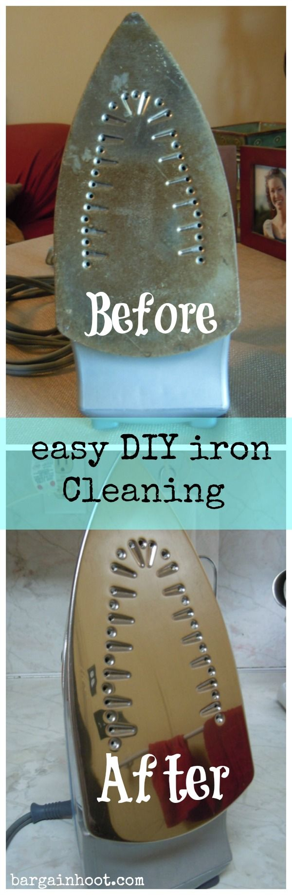 Diy iron cleaning/ did this last weekend. IT WORKS! (I just used the b soda and vinegar) found on another site the same mix to clean the inside of the oven door. Nice, no spray to breathe in and it is so painless. no scrubbing!