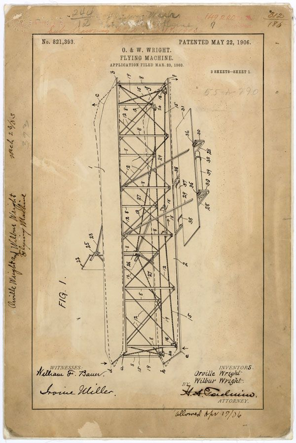 This Day in Science History-- In 1906 the Wright Brothers were issued a patent for a flying machine. The patent included the steering system and the wing design. They then showed the patents and designs to Thomas Selfridge, a member of the Aerial Experiment Association established by Alexander Graham Bell in 1907.