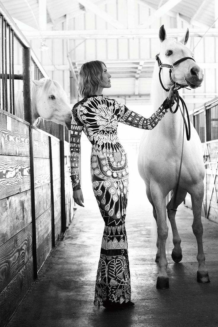 Tom Ford gown, harper's bazaar Saddle Up For { year of the horse }