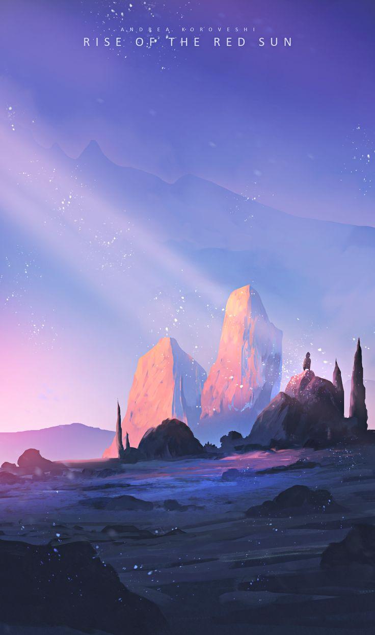 Andrea Koroveshi   Rise of the red sun Mooi kleurgebruik, en de titel vind ik goed passen bij mijn project/onderwerp, een belangrijk deel van animatie is ook de achtergrond/locatie.