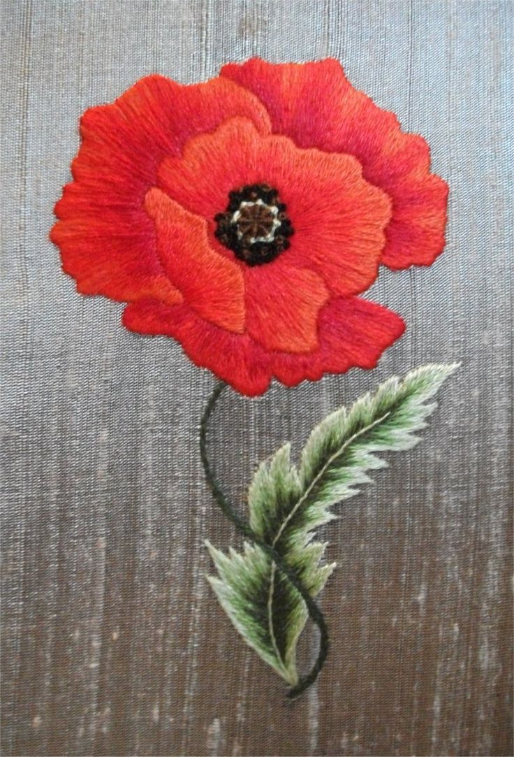 News from Vine Embroidery: Poppy Silk Shading