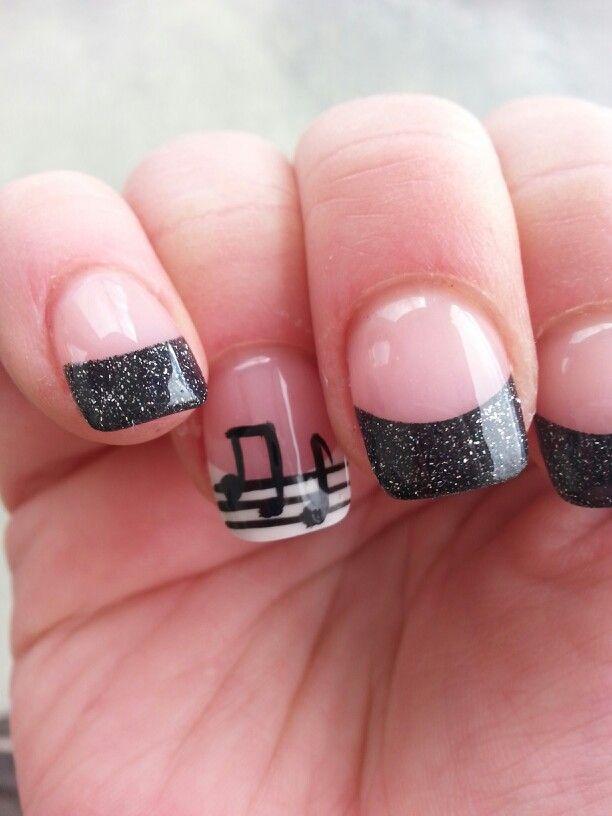Madame Thenardier Nails 2014. Music note nails. Music.  Nail art. Musical nails!