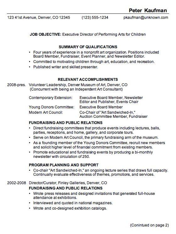 11 Great Sample Combination Resume Internships, Work \ Job - sample combination resume