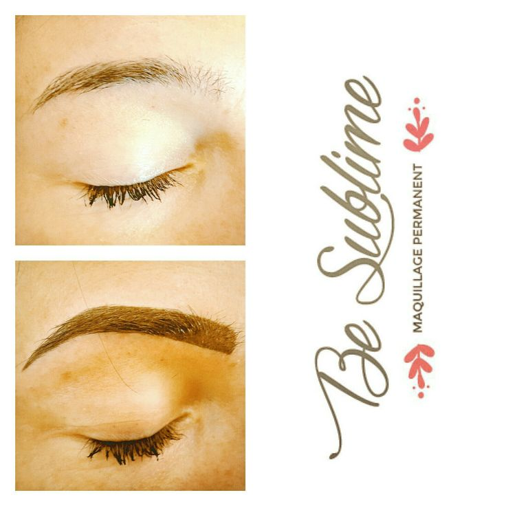Restructuration des sourcils - maquillage permanent - sourcils libanais - photo avant cicatrisation
