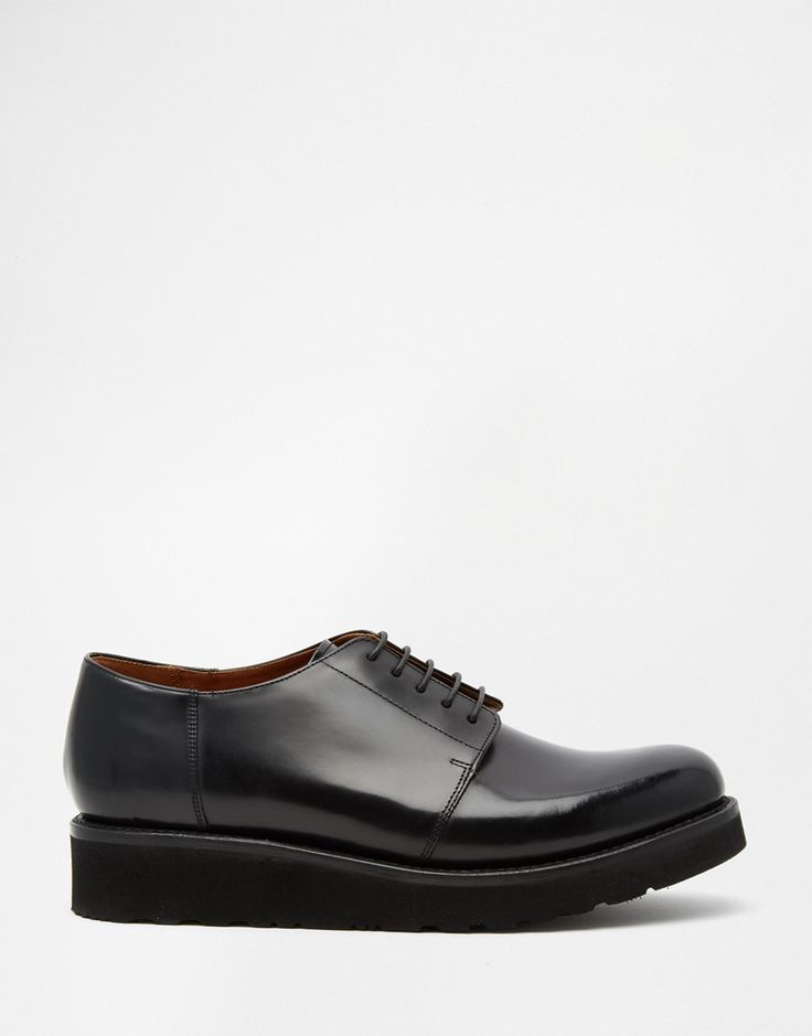 Grenson Robin Leather Wedge Derby Shoes