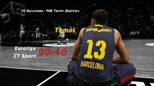 Také dnes večer vám může dělat společnost česká basketbalová hvězda. Tomáš Satoranský a jeho Barcelona přivítá polský Zhořelec. A vy to můžete vidět LIVE od 20:40 na ČT Sport!