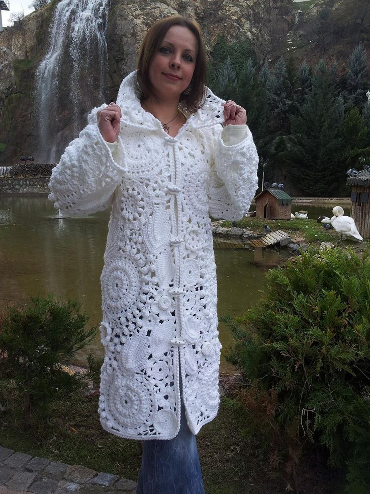 crocheted coat --- Nice coat!  No nope no. Anya if you make this is disown you