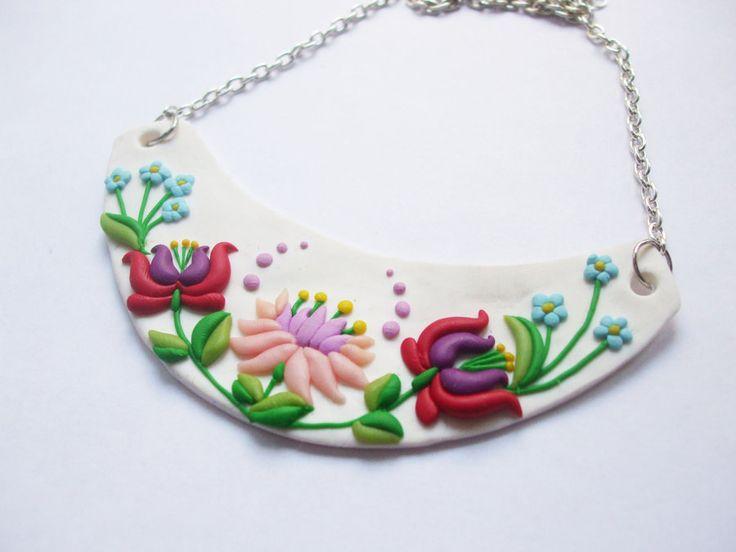 Hungarian folk (kalocsai) necklace by gyurmabigyok.deviantart.com on @deviantART