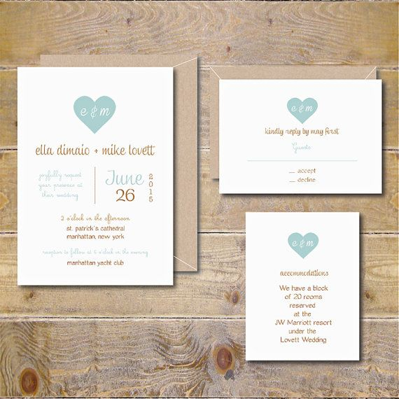 Rustic Wedding Invitations, Barn Wedding. Recycled Wedding Invittations, Wedding…