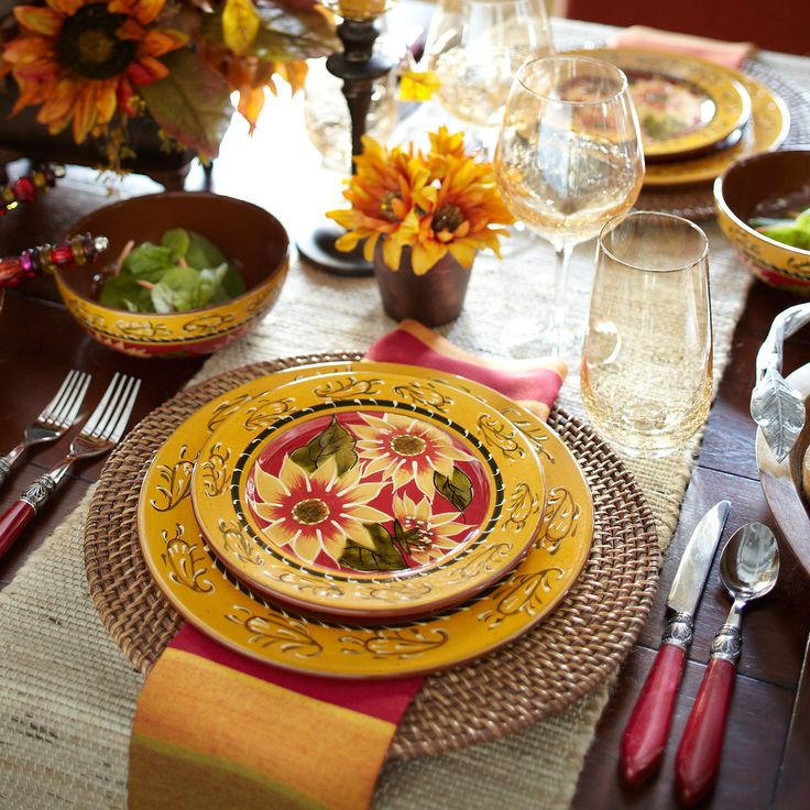 Sunflower Dinnerware & 393 best Dinnerware/Dish Sets images on Pinterest | Dish sets ...
