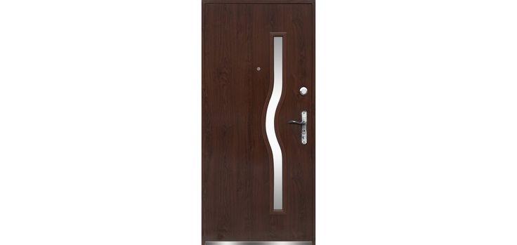 O.K.Doors ajtó Capri bejárati balos fém sötétdió 96 cm x 205 cm