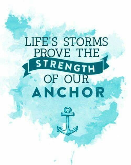 Ovarian Cancer Awareness ~ Life's Storms Prove The Strength Of Our Anchor