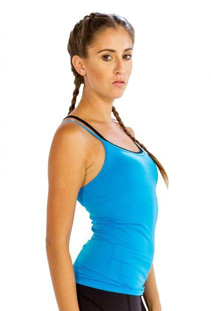 Funky Aqua Blue #Yoga #Camisole