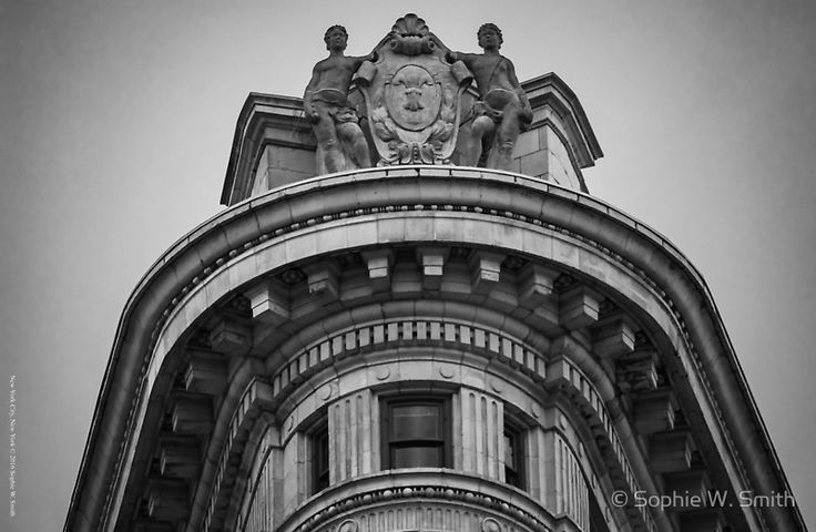 Top Of The Flatiron Building | New York City, New York  #Lexington #Avenue, #Turtle #Bay #Neighborhood, structure, brick, #skyway, #skybridge, #skywalk, #pedway, #black #white, #sky #clouds, #two #buildings, #connection, #HQSPArchitecture, #One #World #Trade #Center, #Freedom #Tower, #WTC, #Lower #Manhattan, #Tallest #Building, #Western #Hemisphere, #North #Tower, #Terrorist #attack, #September #eleven, #skyscraper, #West #Vesey #Fulton
