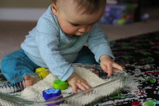 Using household stuff (hair gel! rice! spaghetti!) you can make your own playthings for baby. Read on and get ready for major fun.