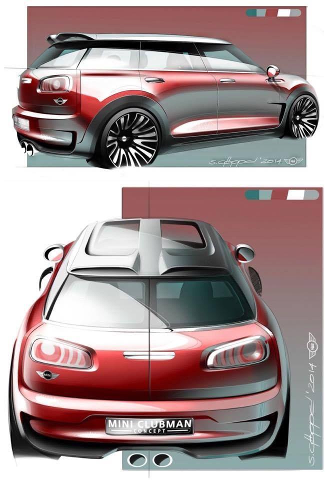 Sketches we like / Digital Sketch /Transpportational / MINI Clubman Concept Design Sketch