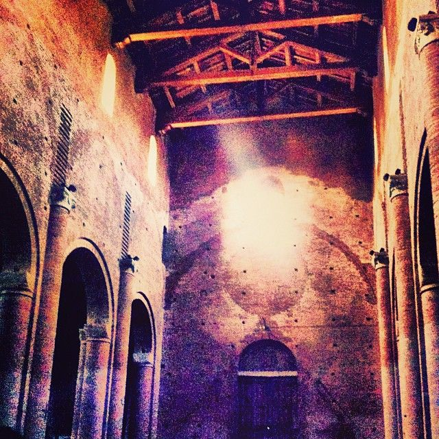 Abbazia Di Nonantola. Now closed due to the Earthquake in 2012, the evidence if changing styles of architecture is quite evident in this #beautiful church - Instagram by @ava gwinn Apollo