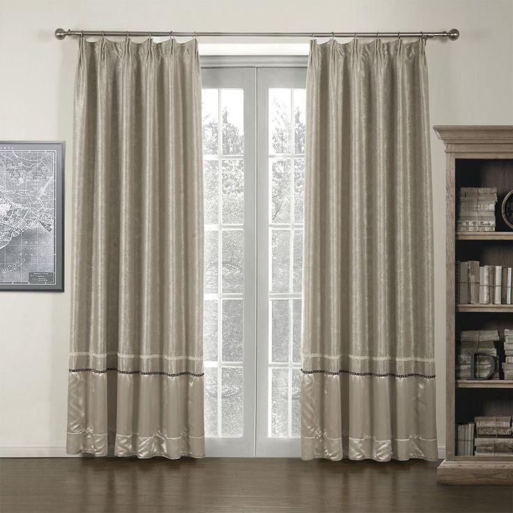 Beige Piecing Classic Room Darkening Curtain   #curtains #decor #homedecor #homeinterior #beige