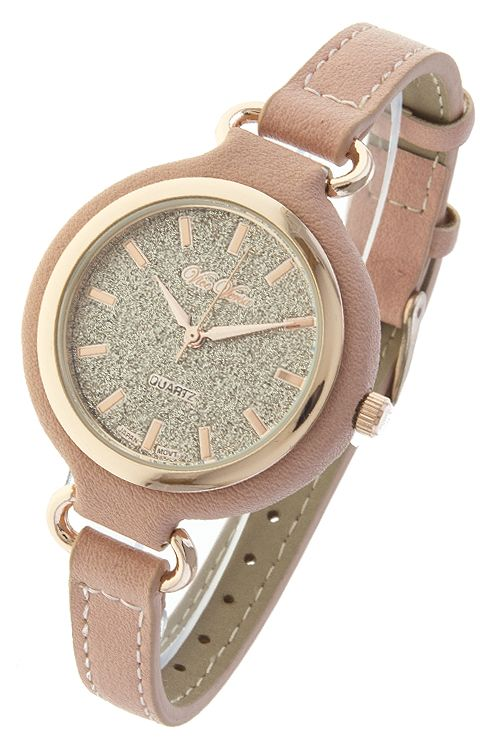 GLITTER DIAL SKINNY BAND WATCH