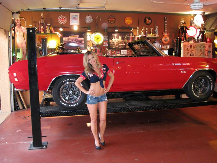 Car Lift With Pretty Girl Http Www Carguygarage Com