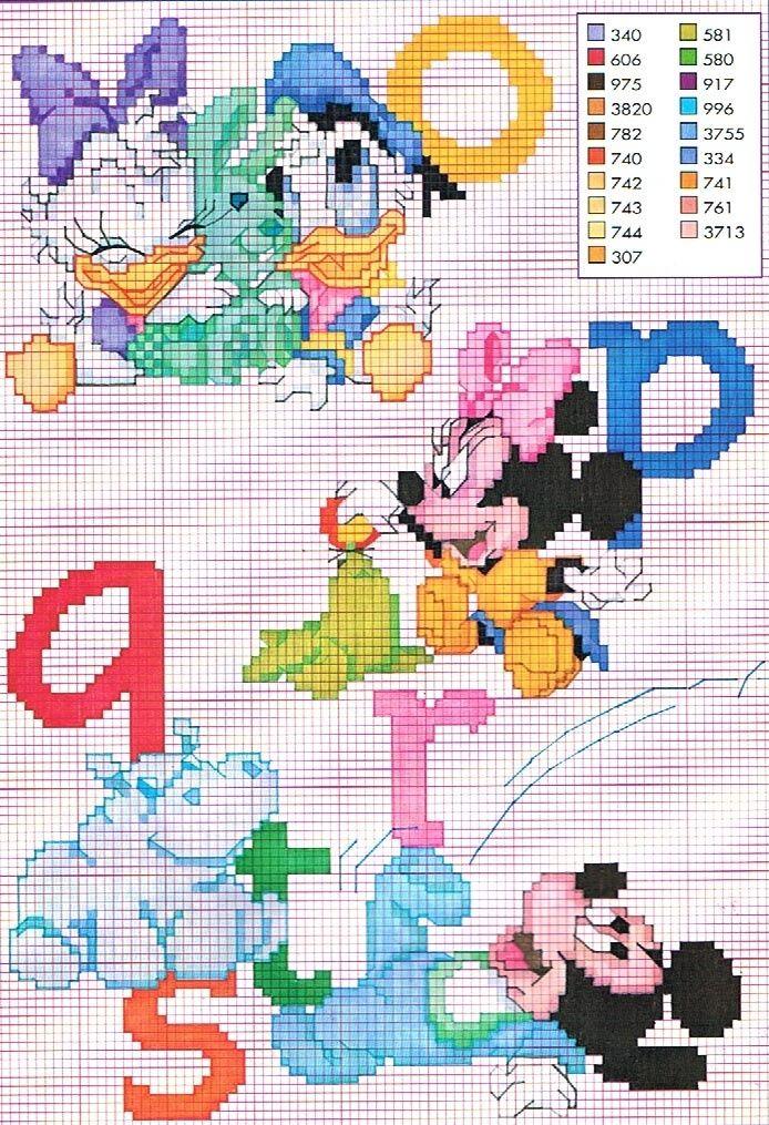 67 best Punto de cruz - Disney baby images on Pinterest | Punto de ...