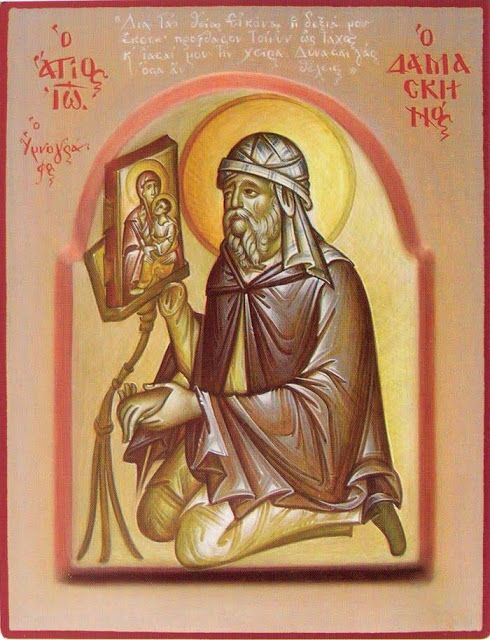 St. John of Damascus Praying for Healing of His Arm Whispers of an Immortalist: Icons of the Venerables 6