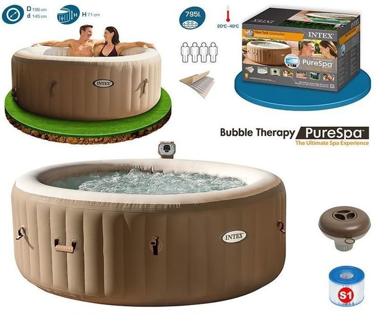 25 ide terbaik tentang jacuzzi gonflable intex di pinterest jacuzzi intex spa intex dan spa. Black Bedroom Furniture Sets. Home Design Ideas