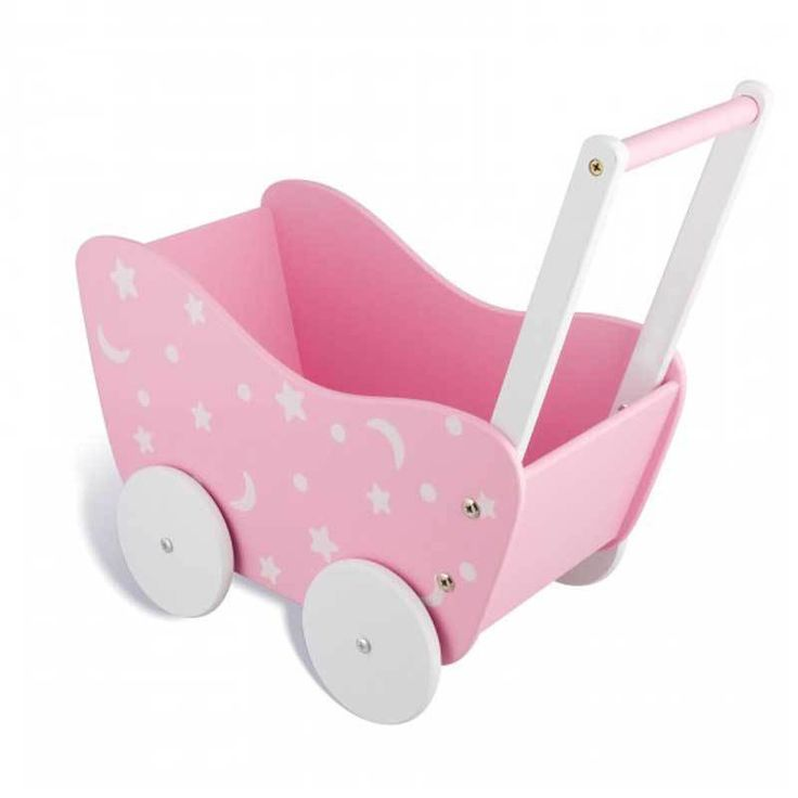 Buy Wooden Wagon Dolls Pram in Pink Online at Toy Universe Australia