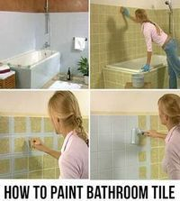 How To Paint Bathroom Tile The Right Way Update The Powder Room By Adding A