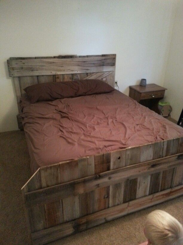 Old Barn Door Headboard With Matching Footboard From Old