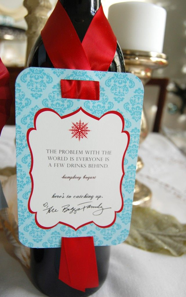 {FREEBIE} Witty Christmas Wine Tags - Frog Prince Paperie