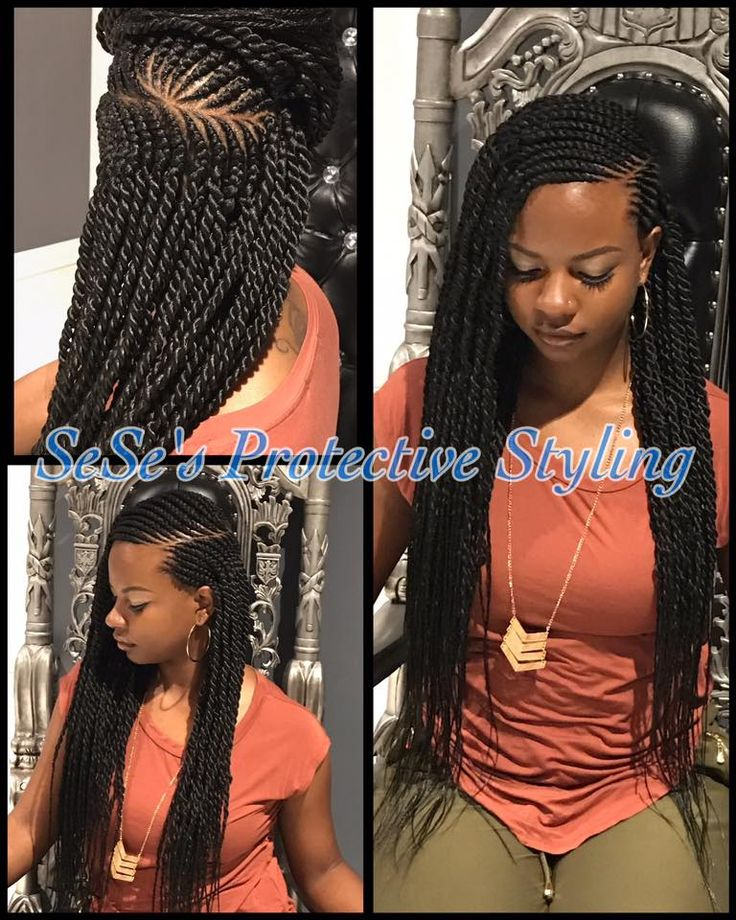 Ghana Braids Twists by Sese Wilson of Sese's Royal Palace-The Salon Maumelle, Arkansas.