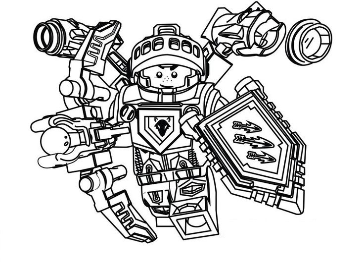 nexo knights aaron ausmalbilder | lego coloring pages
