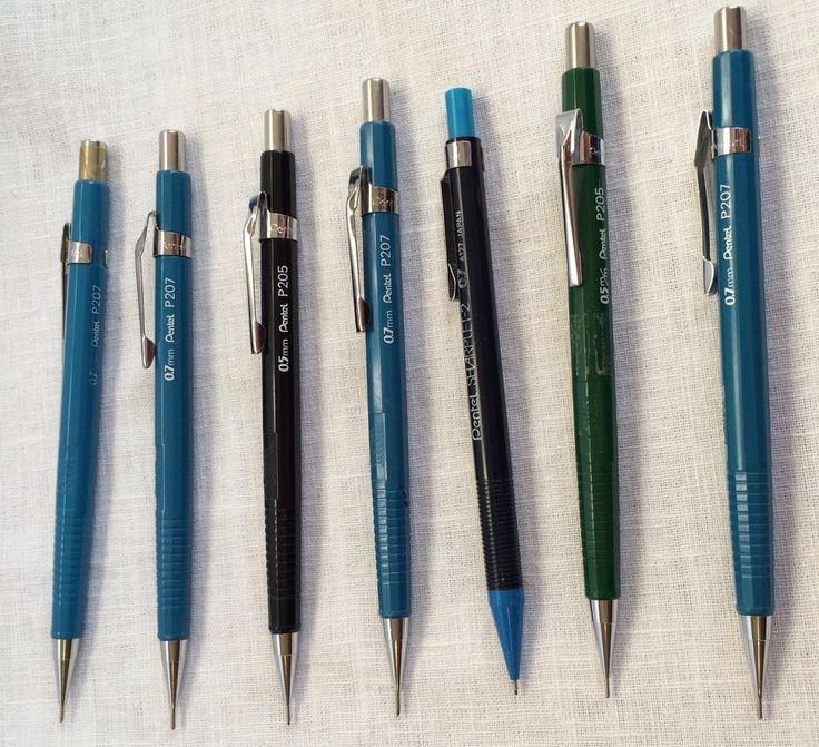 Lot of 7 Vintage Pentel Mechanical Pencils P205 P207 Sharplet-2